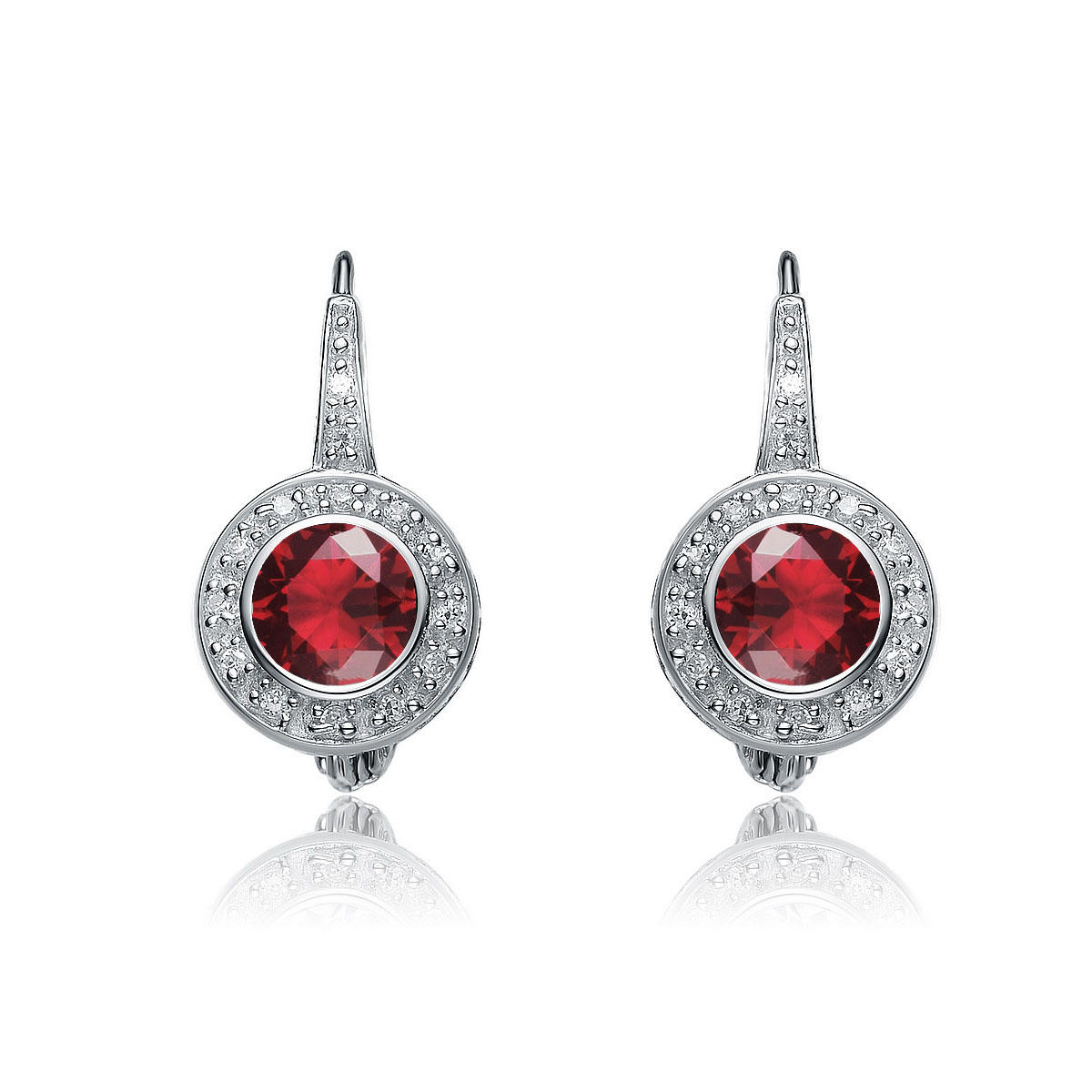 flawless cubic sterling silver platinum plated round ruby