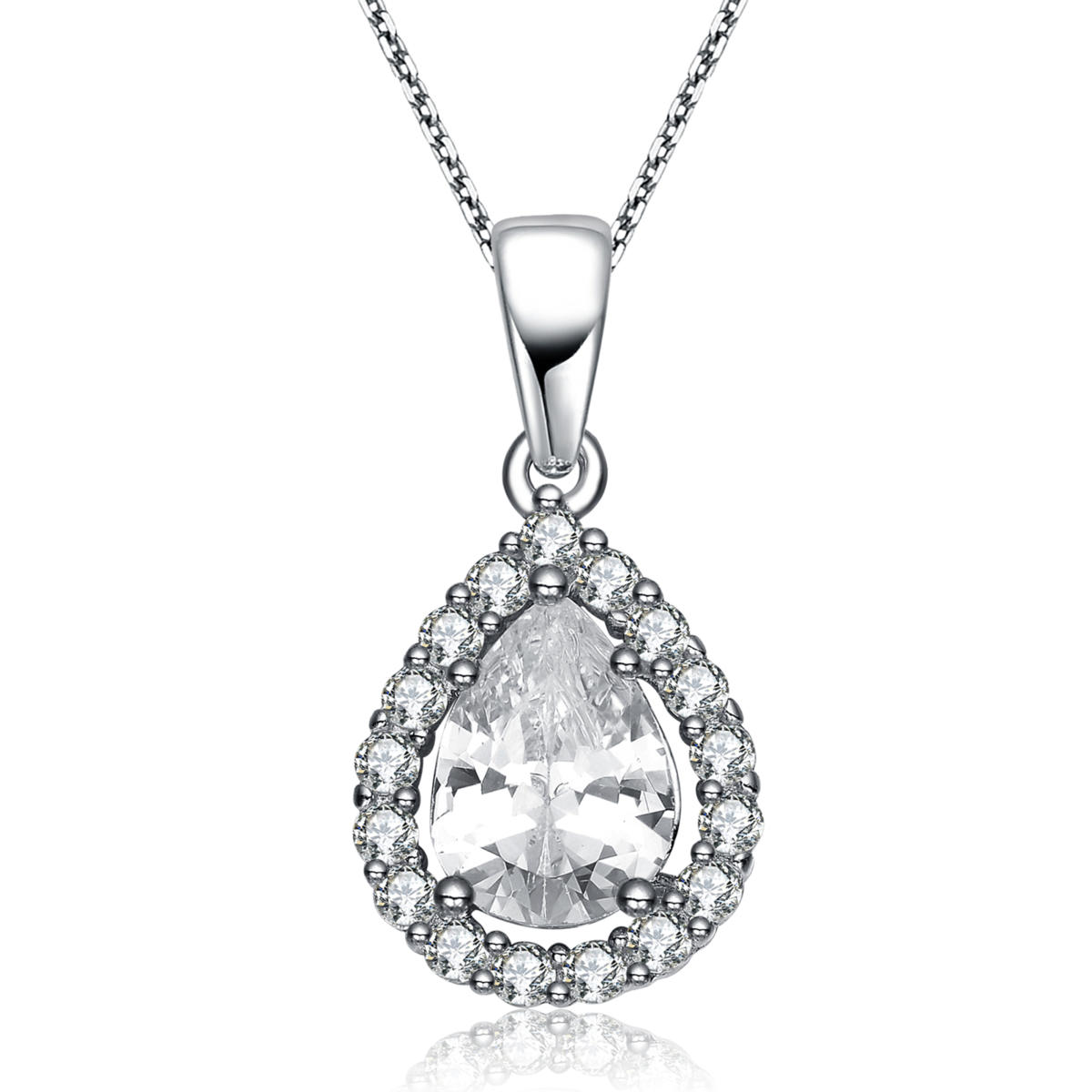 jewels pendant cut rose grace pear by diamond