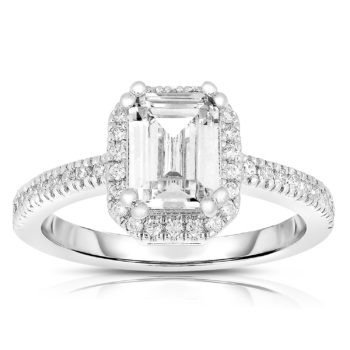 Flawless cubic Sterling Silver Asscher-cut Cubic Zirconia Ring