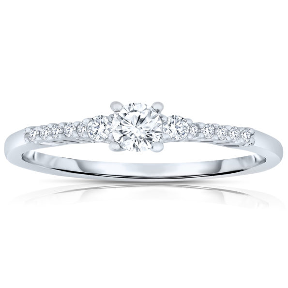 Flawless cubic Sterling Silver Cubic Zirconia Ring