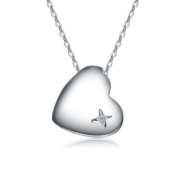 """Megan Walford Diamond Heart Necklace"